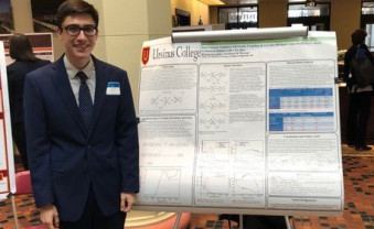 Michael Esposito presents his research poster at the Undergraduate Research at the Capital Pennsylvania Conference