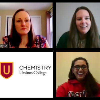 Fall 2020 Chemistry Career Panelists - Christina Lippe '10, Kelsey McNeely '05 and Sruthi Kin...