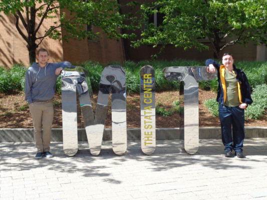 Jon and Elliot visit MIT as a part of their Summer Fellows experience