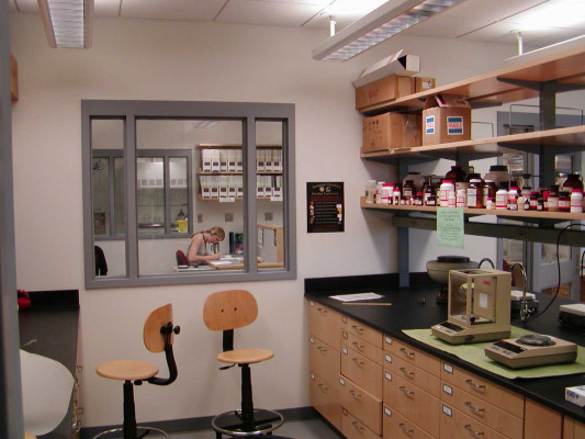 Research Laboratory Overlooking the Student Write-up Area