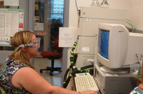 Brittany works with the HPLC.