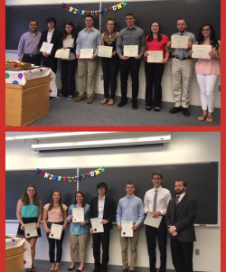Students inducted to National Honor Societies