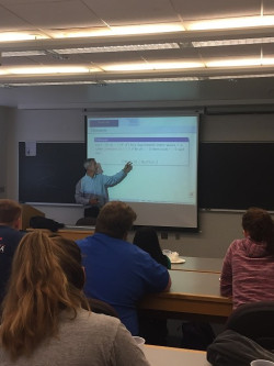 "Jose Vilches from the University of Sevilla, Spain, gives a guest lecture ""Why Math?"""