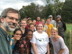 "Prof. Rich Wallace and the students of ENV-452W, ""The Land Ethic and Applied Conservation,"" after completing the..."