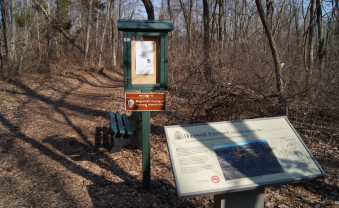 Interpretive trail through forested area.