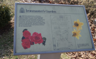 Interpretive signage for the ornamental gardens outside the main house.
