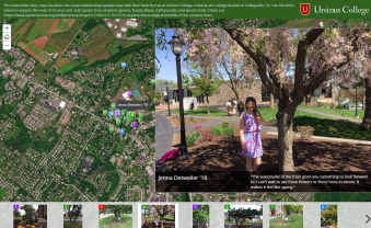 Exploring the importance of campus trees using Story Maps.