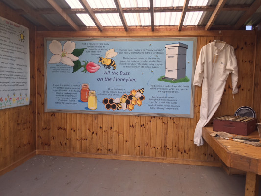 Weaver's Orchard includes educational spaces to learn about bees and pollination.