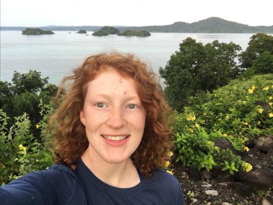 Liz Burke on Coibita Island in the Pacific Ocean (Panama)