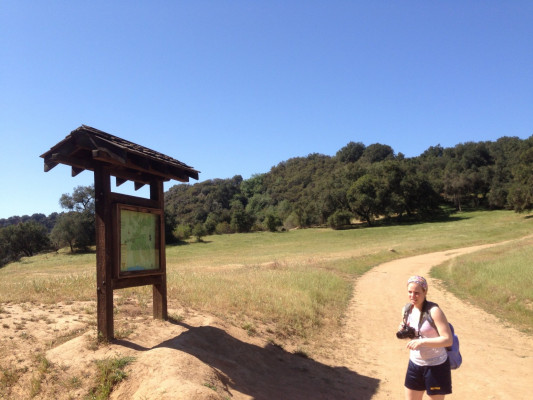 Trailhead to the Pacific Coast trail at Topanga Creek Park