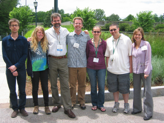 Faculty and students at the Association of Environmental Studies and Sciences conference in Burlington, VT.