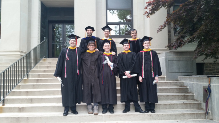 Ursinus physics graduates in 2016.
