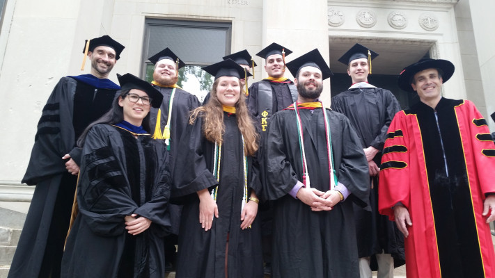 Ursinus physics graduates in 2017.