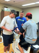 Students engage in hand-on learning within the Exercise laboratory environment.