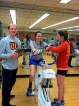 Exercise Physiology testing procedures are applied during an Exercise Physiology lab.
