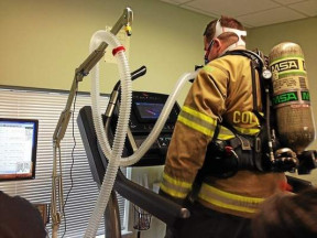 Fireman on a treadmill