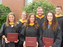 Alum, Mackenzie Hunter '13 completes the Adaptive Physical Education Graduate Program at UW-La Crosse.<em> (bottom left)</em>