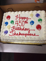 Shakespeare's Birthday, Olin 3rd floor