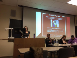 Paige Szmodis at the 11th Annual Undergraduate Conference in Medieval and Early Modern Studies at Moravian Colle...