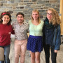 People in photo from left to right: Sophia DiBattista, Robin Gow, Courtney DuChene, and an Ursinu...