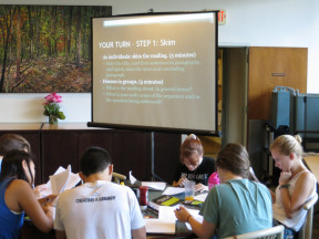At the first History Skills Workshop (How to Read for a History Class), August 27, 2014.