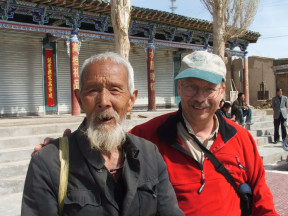 Dr. Hugh Clark (on the right) in Dunhuang, China