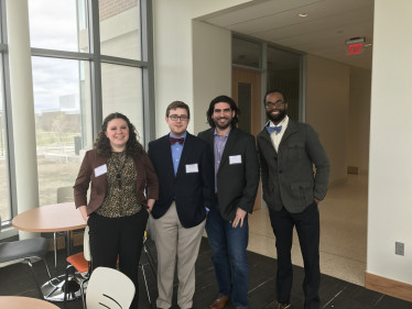 Ella McGill '17, Jon Kishpaugh '17, Liam Griffin '18, and Dr. Onaci at the 2017 Phi Alpha Theta Conference.