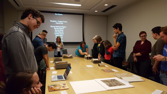 #BearsMakeHistory learning about manuscripts and digitization at the University of Pennsylvania.