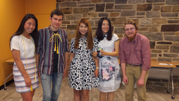 From left, Amy Lee, Joe Iuliucci, Stephanie Sun, Yuchi Liu (FLTA), Morgan Larese.