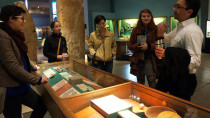 Lecturer Berajano and Visiting Instructor Davis enjoy a day with Anthropology students during a trip to the Penn Museum of Archaeology and Anthropology, in Philadelphia, PA.