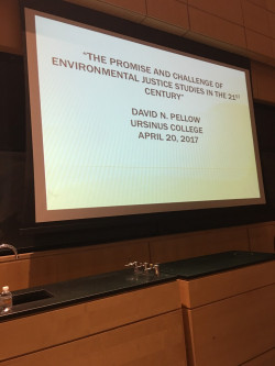 Dr. David N. Pellow's lecture on environmental justice at Musser Auditorium