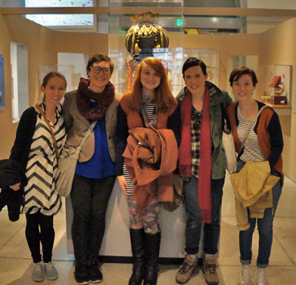 <p>Students enjoy a trip to the Penn Museum of Archaeology and Anthropology in Fall 2016. </p>