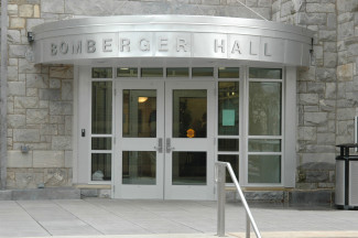 Entrance to Bomberger Hall where Business courses are held