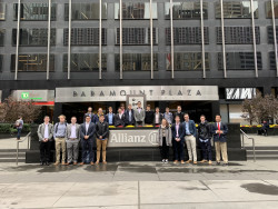 Investment Managers at Allianz Investment company, field trip hosted by Ursinus Alumnus Joe Pursley