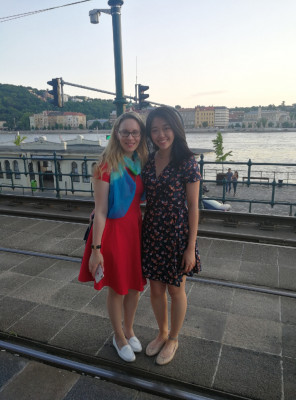 Wendy, UC ('21), Budapest, Danube River, ECON 223, Study Abroad course in economics, summer 2019.