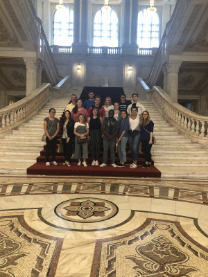 Inside the Palace of Parliament, Bucharest, Romania, ECON 223, Study Abroad course in economics, summer 2019.