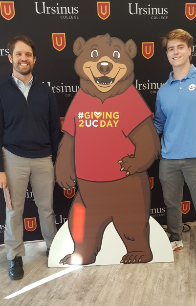 Professor Deacle, PhD. and UCIMCO CIO, Parker Wolfe, Donate $1,869.00 on UC Giving Day 2019.