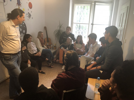 Conversations with BeeHave startup CEO, ECON 223, Study Abroad course in economics, summer 2019.