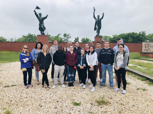 Memento Park, Budapest, ECON 223, Study Abroad course in economics, summer 2019.