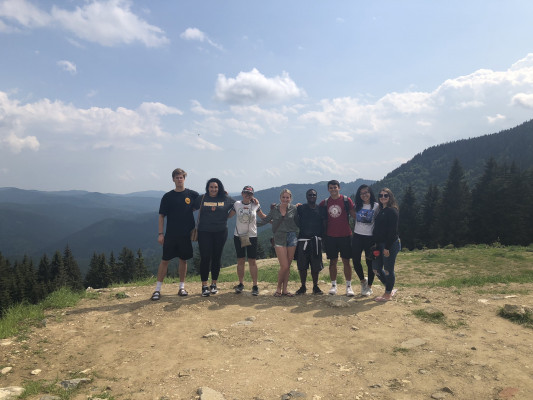 Sinaia Mountains, Romania, ECON 223, Study Abroad course in economics, summer 2019.