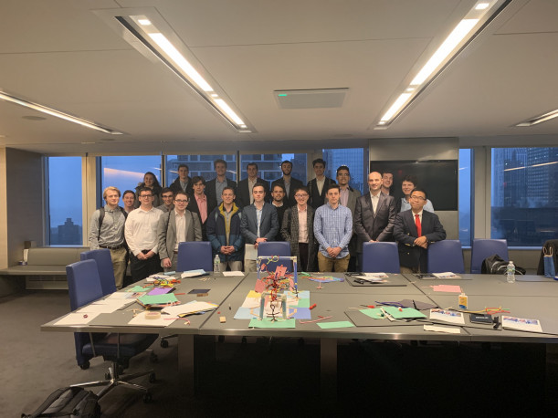 Student Investment managers after team workshop at Allianz Investment