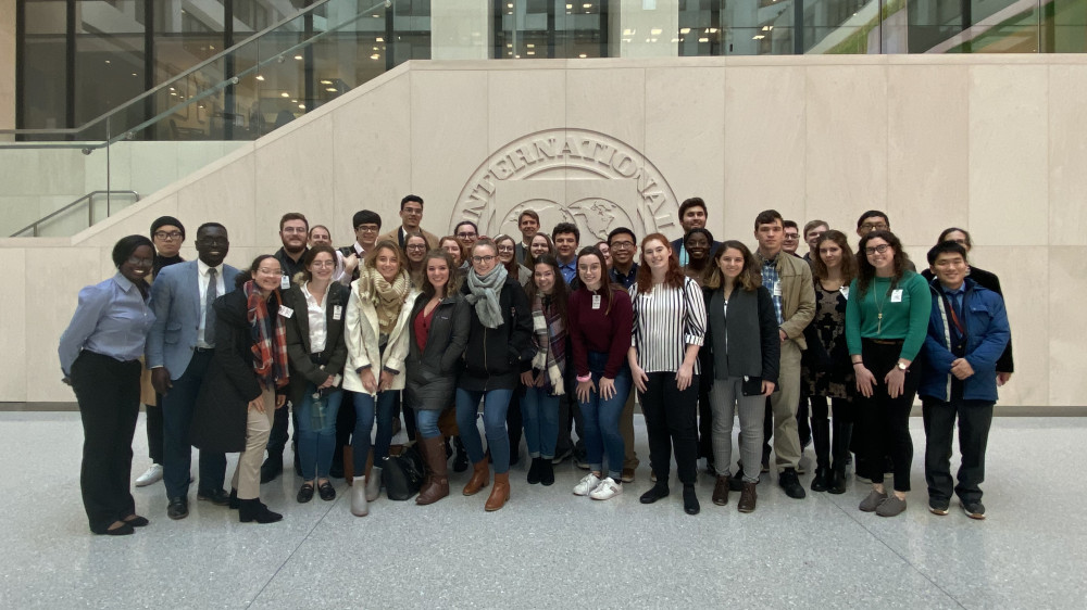 Students at the International Monetary Fund