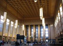 30th Street Station is a transportation hub for the Philadelphia area.