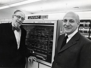 ENIAC inventor John Mauchly (left) taught physics at Ursinus in the 1930s.