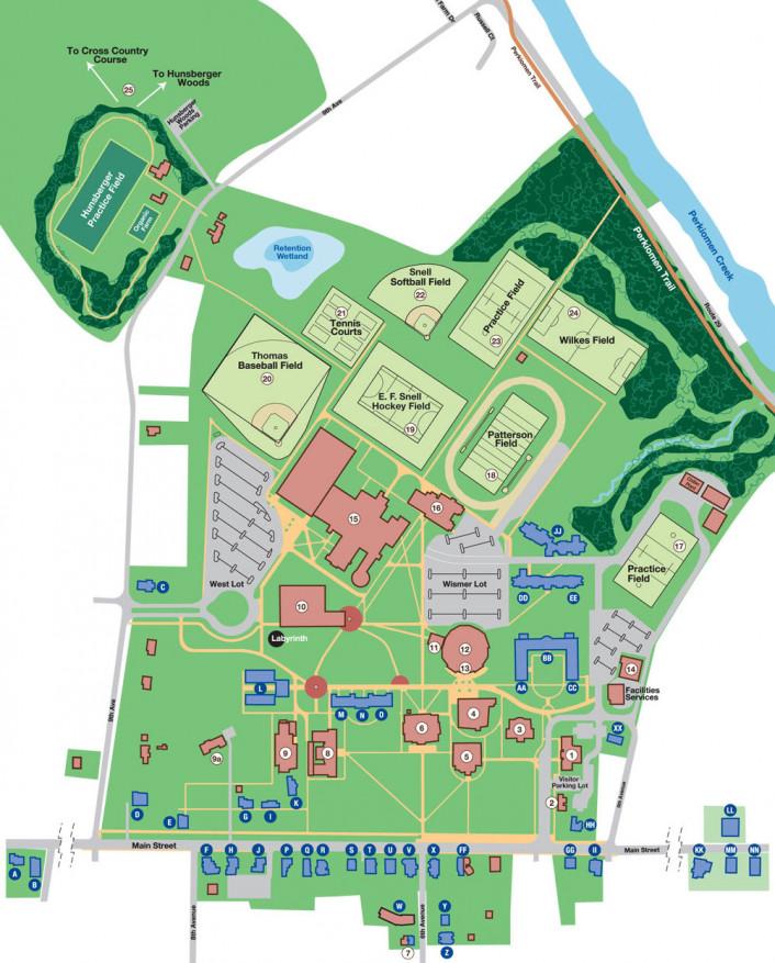 Campus Map | About Ursinus | Ursinus College