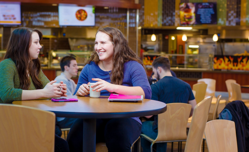 Students dining in Wismer Dining Hall