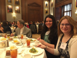 Kelly Johnson '17 and Susie Zelaya Rivera '19 were recognized by the Pan American Association of Philadelphia.