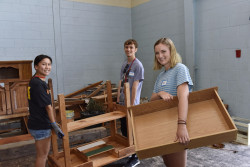 Students participate in First-year Day of Service.