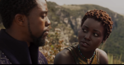 "Students are discussing the movie ""Black Panther"" in the special topics course ""Afrofuturism."""