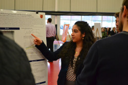 Students presented their research during CoSA 2018.